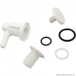 "Lo Pro Injector 3/8"" Barb Elbow Style, White"