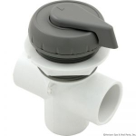 "1"" Vertical Top Access Div. Valve, Gray"