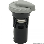 "1"" Top Access Silent Air Control, Scalloped Gray"