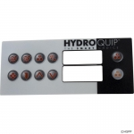 Overlay, Hydro-Quip HT2, 10 Button, Large Rec