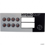 Overlay, Hydro-Quip HT2, 8 Button, Large Rec