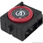 24 Hr. Panel Mount Timer, 120vac, PF & RC Series W/Override